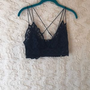 FREE PEOPLE ONE size large blue bralette